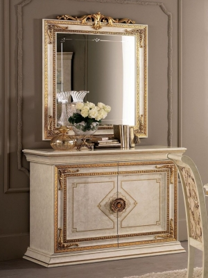 Arredoclassic Leonardo Golden Italian 2 Door Medium Sideboard
