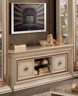 Arredoclassic Leonardo Golden Italian 2 Door TV Cabinet