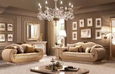 Arredoclassic Leonardo Italian 2+3 Seater Fabric Sofa Set