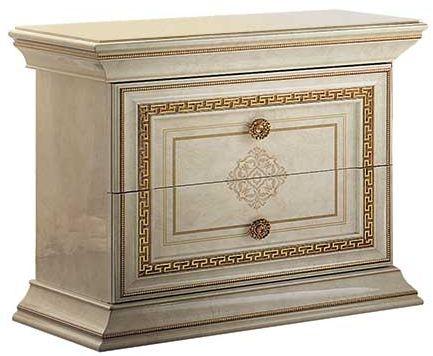 Arredoclassic Leonardo Golden Italian 2 Drawer Bedside Cabinet