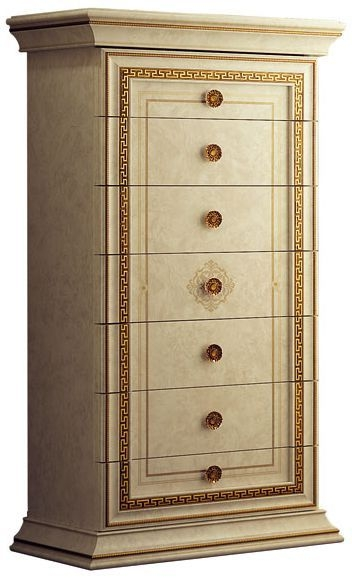 Arredoclassic Leonardo Golden Italian 7 Drawer Chest