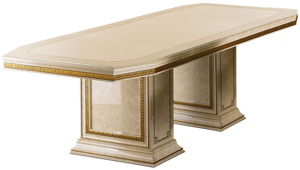 Arredoclassic Leonardo Golden Italian Dining Table - 200cm-300cm Rectangular Extending