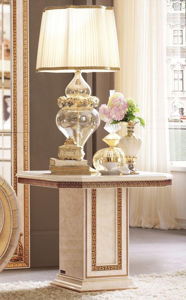 Arredoclassic Leonardo Golden Italian Lamp Table