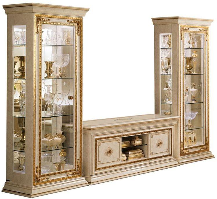 Arredoclassic Leonardo Golden Italian 4 Door TV Set Composition