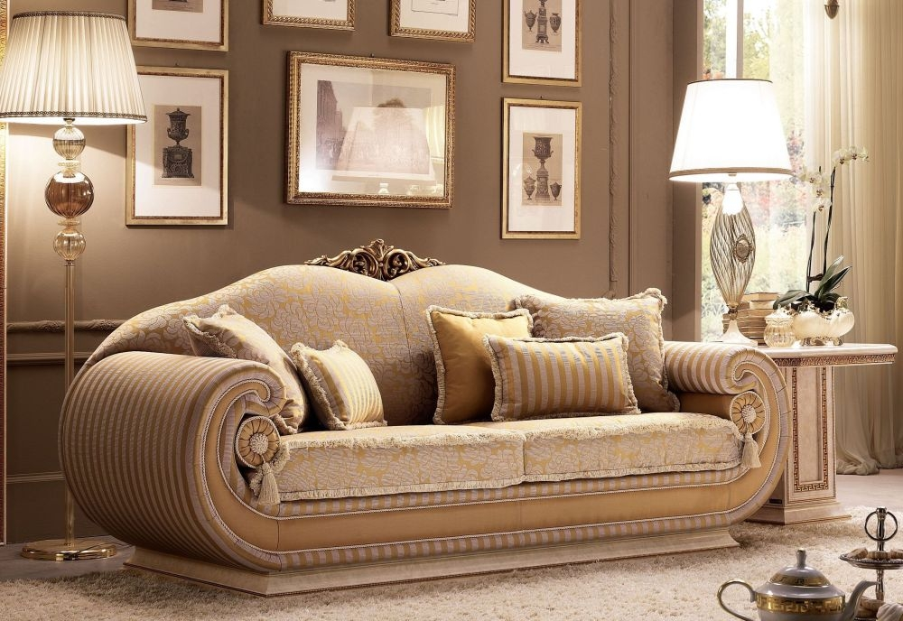 Arredoclassic Leonardo Italian 3 Seater Fabric Sofa