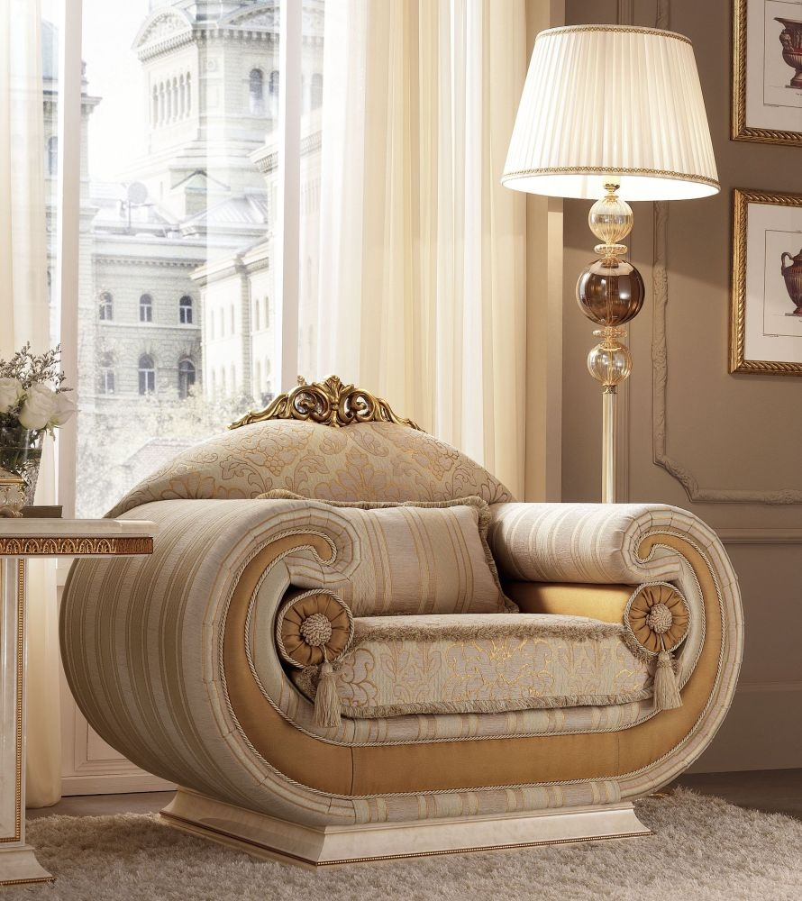 Arredoclassic Leonardo Italian Fabric Armchair