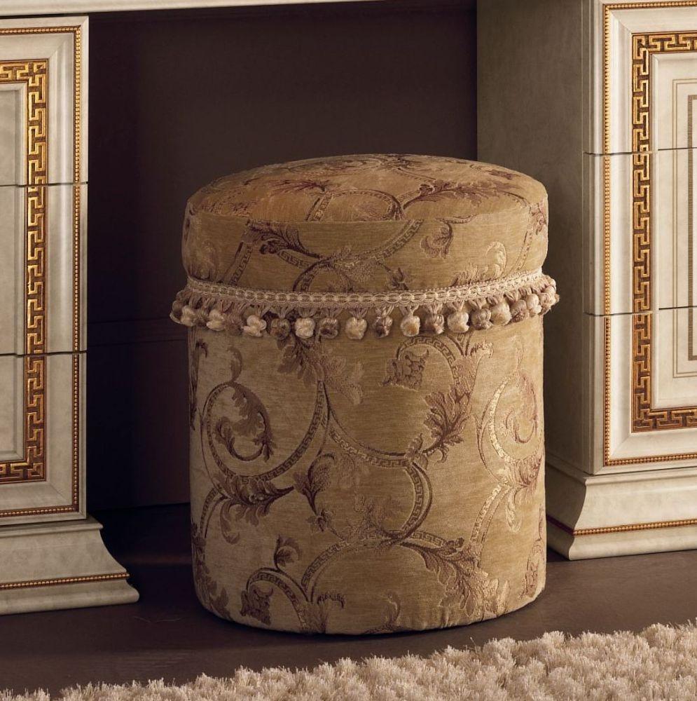 Arredoclassic Leonardo Italian Fabric Pouf