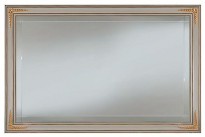 Arredoclassic Liberty Ivory with Gold Italian Rectangular Large Mirror