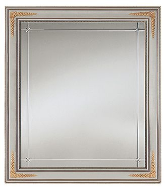 Arredoclassic Liberty Ivory with Gold Italian Rectangular Small Mirror