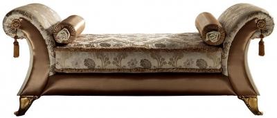 Arredoclassic Liberty Italian Fabric Chaise Vittoria Longue
