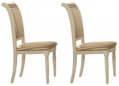 Arredoclassic Liberty Italian Fabric Dining Chair (Pair)