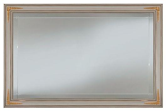 Arredoclassic Liberty Ivory with Gold Italian Rectangular Large Mirror