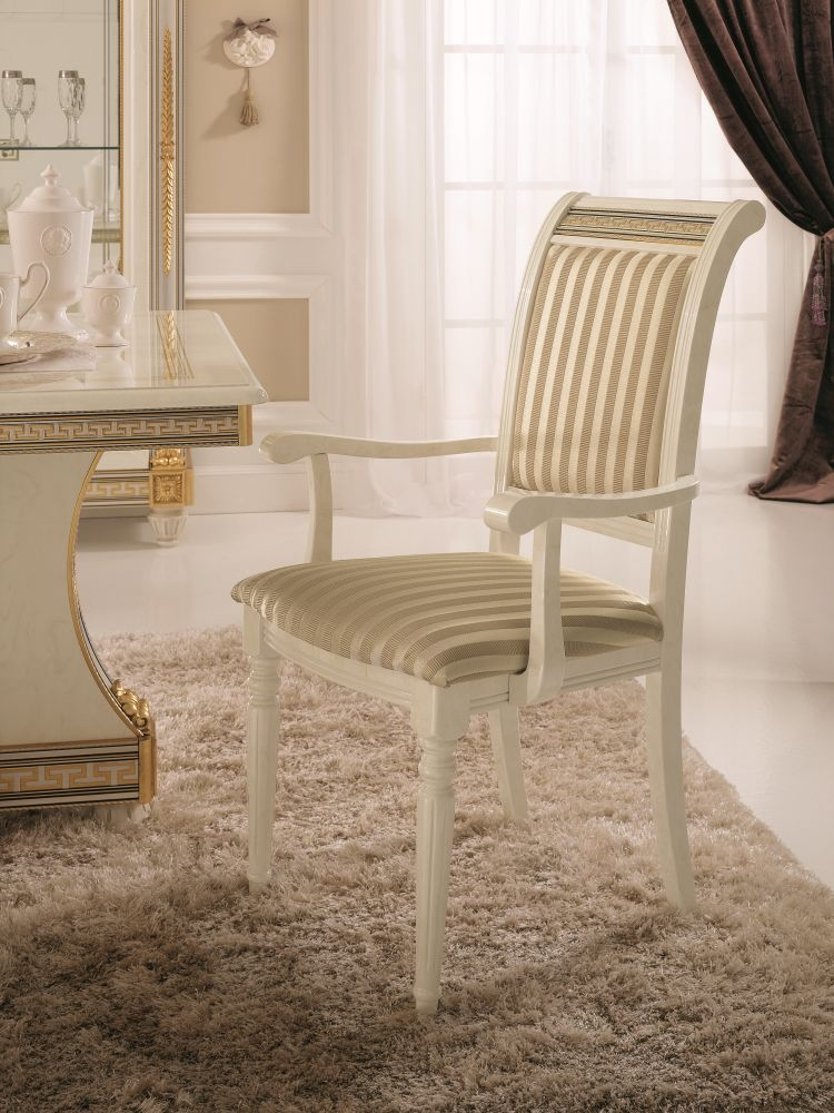 Arredoclassic Liberty Italian Fabric Dining Armchair (Pair)