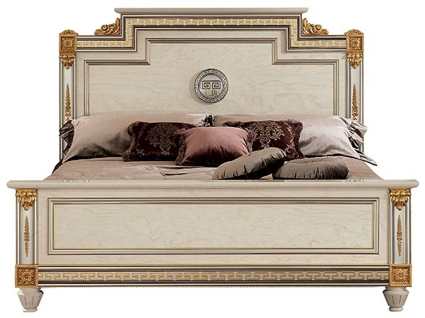 Arredoclassic Liberty Ivory with Gold Italian Bed