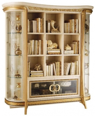 Arredoclassic Melodia Golden Italian Bookcase