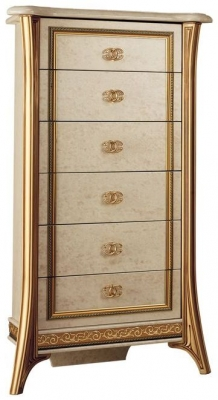 Arredoclassic Melodia Golden Italian 7 Drawer Chest