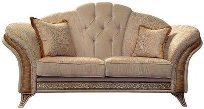 Arredoclassic Melodia Golden Italian Fabric 2 Seater Sofa