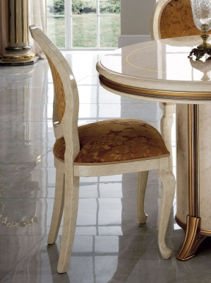Arredoclassic Melodia Golden Italian Fabric Dining Chair (Pair)