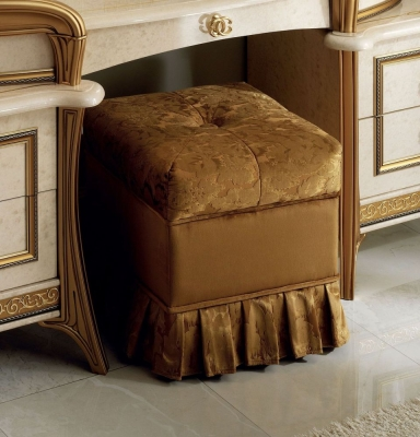 Arredoclassic Melodia Golden Italian Fabric Pouf