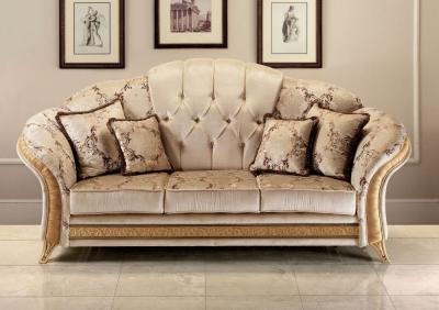 Arredoclassic Melodia Golden Italian Fabric 3 Seater Sofa
