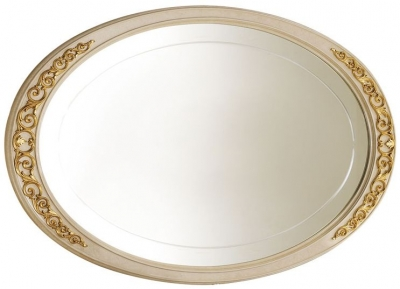 Arredoclassic Melodia Golden Italian Oval Small Mirror