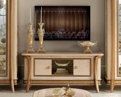 Arredoclassic Melodia Golden Italian 2 Door TV Cabinet