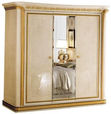 Arredoclassic Melodia Golden Italian 3 Door 1 Mirror Wardrobe