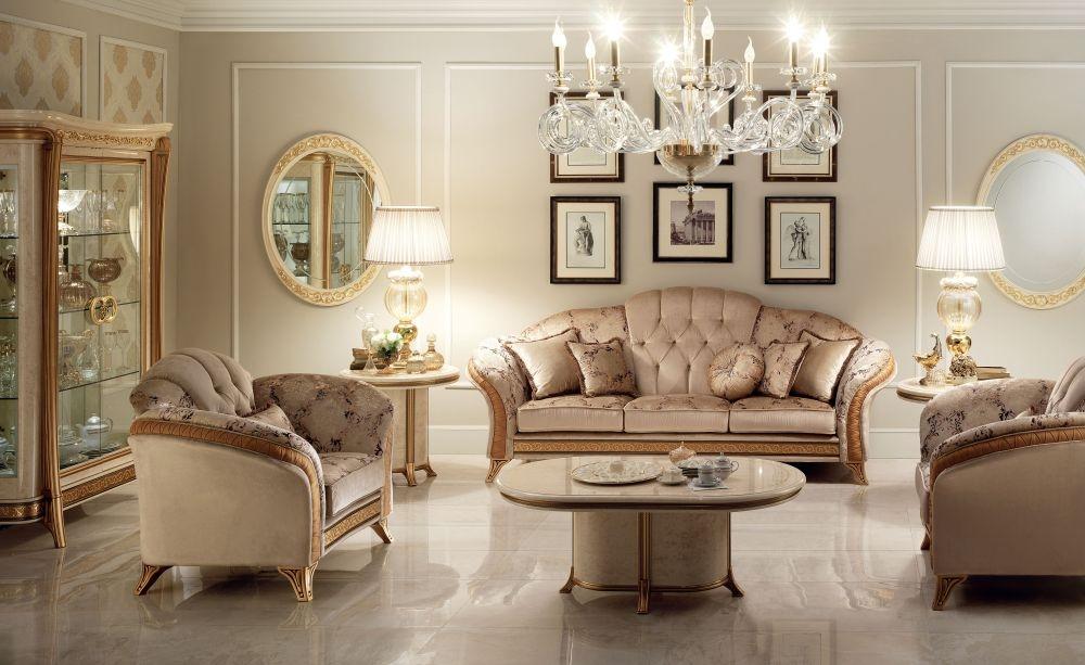 Arredoclassic Melodia Golden Italian 3+1+1 Sofa Suite