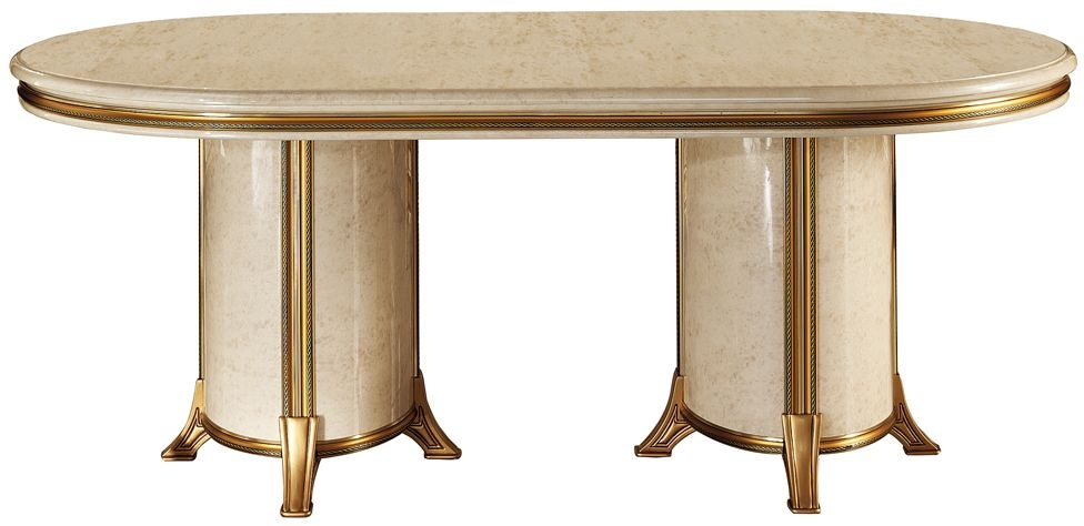Arredoclassic Melodia Golden Italian Oval Extending Dining Table - 200cm-300cm