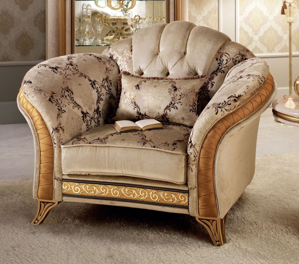 Arredoclassic Melodia Golden Italian 1 Seater Armchair