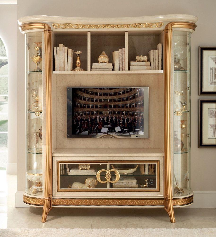 Arredoclassic Melodia Golden Italian 4 Door Wall Unit Composition