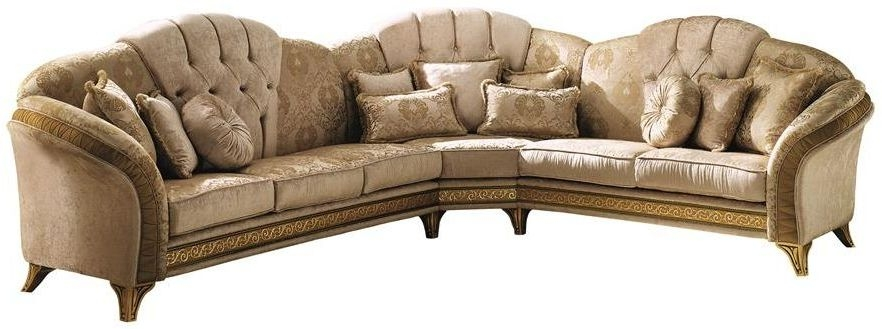 Arredoclassic Melodia Italian Fabric Corner Sofa with Cushion
