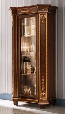 Arredoclassic Modigliani Mahogany Italian 1 Glass Door Display Cabinet