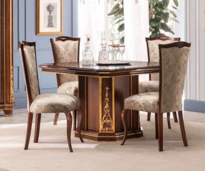 Arredoclassic Modigliani Mahogany Italian 120cm-160cm Square Extending Dining Table
