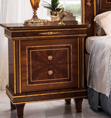 Arredoclassic Modigliani Mahogany Italian 2 Drawer Bedside Cabinet
