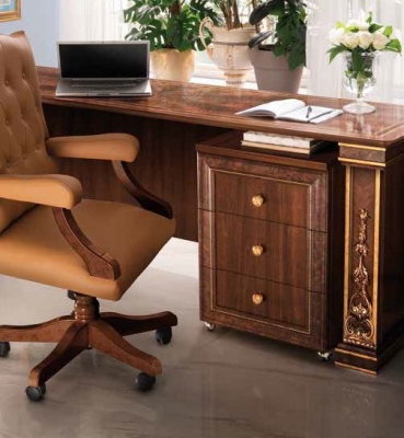 Arredoclassic Modigliani Mahogany Italian 3 Drawer Filing Cabinet