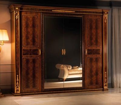 Arredoclassic Modigliani Mahogany Italian 4 Door 2 Mirror Wardrobe