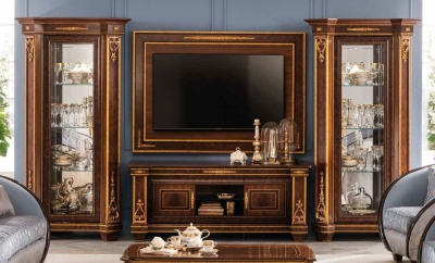 Arredoclassic Modigliani Mahogany Italian Composition TV Set