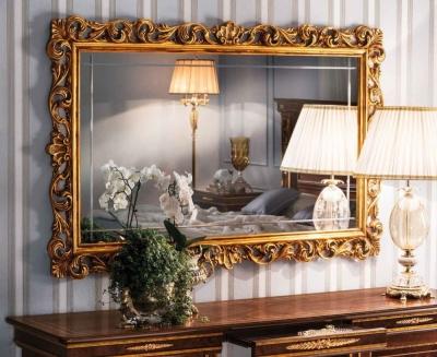 Arredoclassic Modigliani Mahogany Italian Rectangular Large Mirror