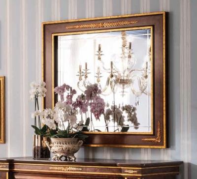 Arredoclassic Modigliani Mahogany Italian Square Mirror