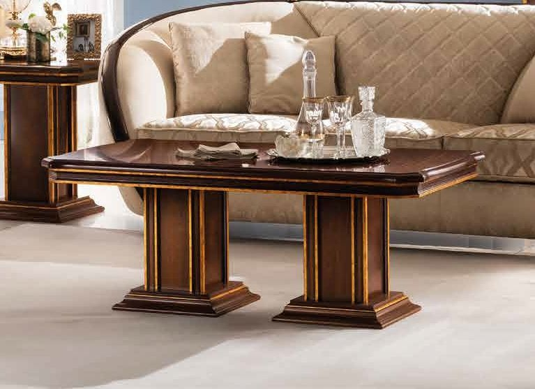 Arredoclassic Modigliani Mahogany Italian Rectangular Coffee Table