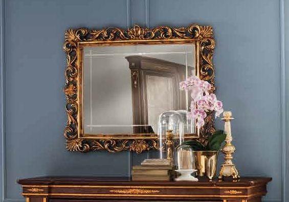 Arredoclassic Modigliani Mahogany Italian Square Small Mirror