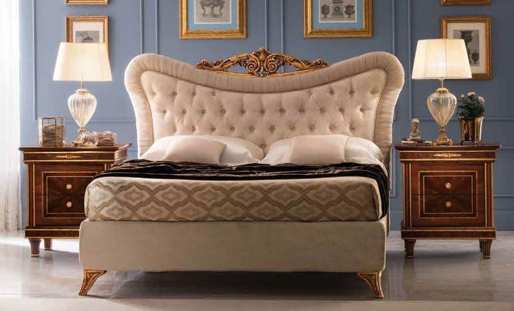 Arredoclassic Modigliani Mahogany Italian Upholstered Bed