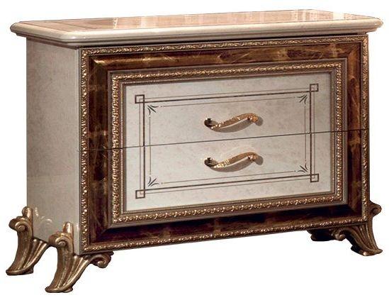 Arredoclassic Raffaello Gold Italian Bedside Cabinet - 2 Drawer