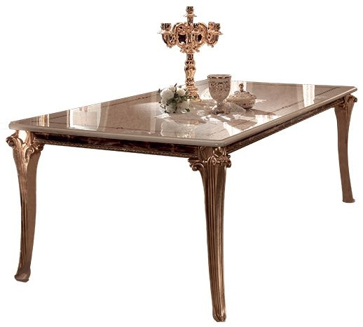 Arredoclassic Raffaello Gold Italian Dining Table - 200cm-250cm Rectangular Extending