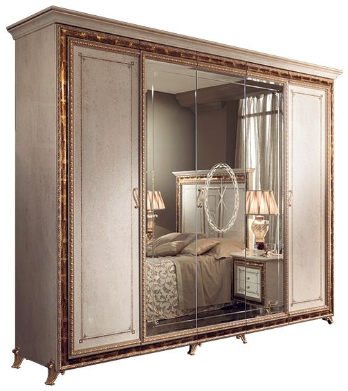Arredoclassic Raffaello Gold Italian 5 Door Wardrobe