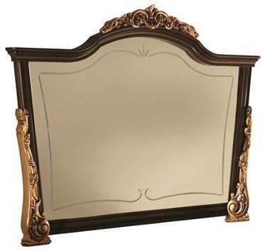 Arredoclassic Sinfonia Walnut Italian Wooden Arch Large Mirror