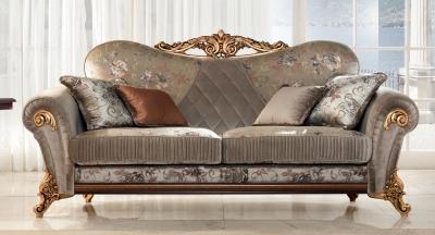 Arredoclassic Sinfonia Italian 3 Seater Fabric Sofa
