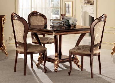 Arredoclassic Sinfonia Walnut Italian 120cm Square Dining Table