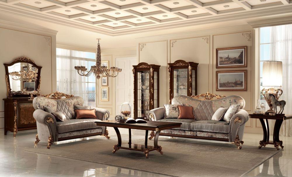 Arredoclassic Sinfonia Italian Fabric 2+3 Seater Sofa Suit